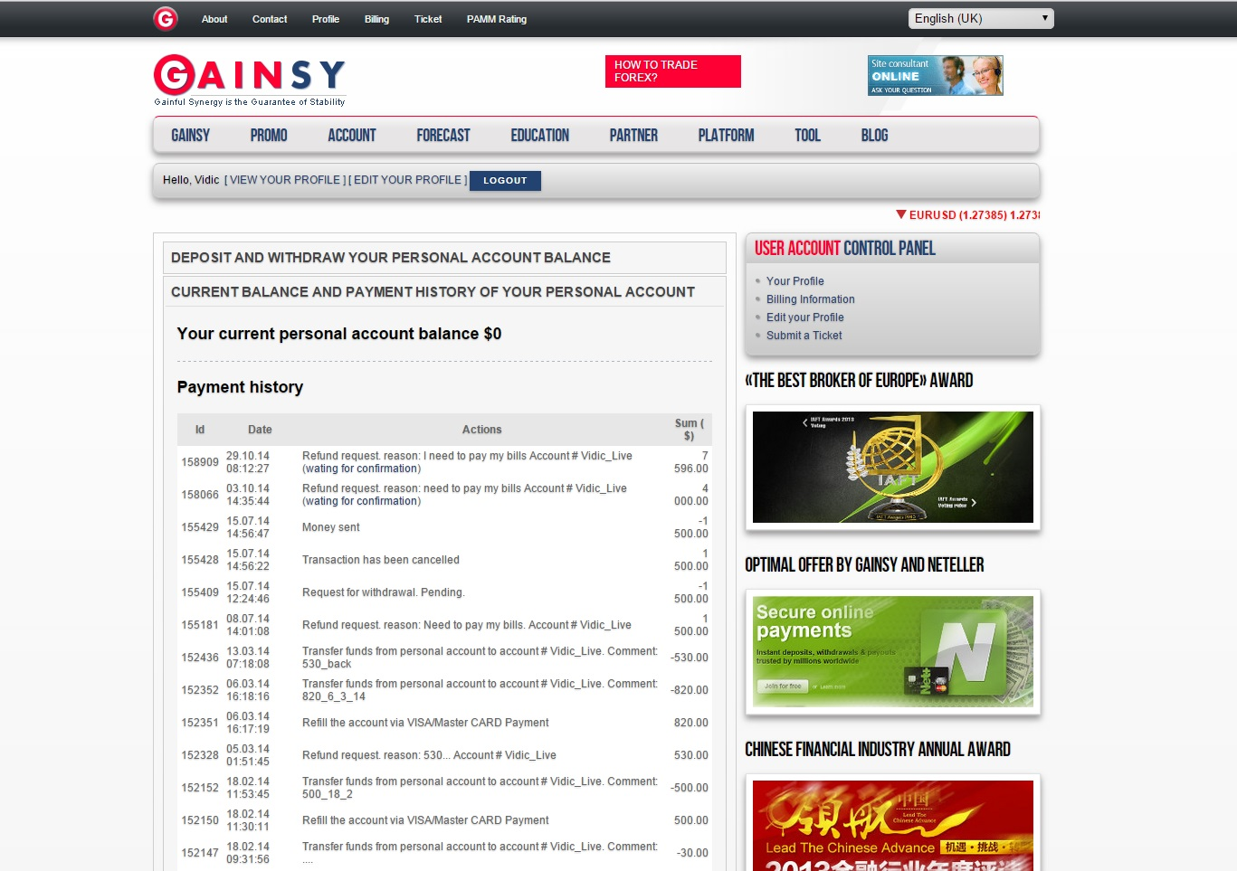 Gainsy forex broker review